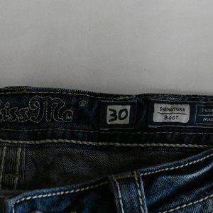 Miss Me Jeans - Miss Me Denim Signature Boot Cut Jeans SZ: 30